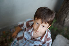 Young boy individuality Stock Image