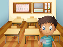 A young boy inside the classroom Royalty Free Stock Photo