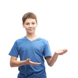 Young boy isolated Royalty Free Stock Images