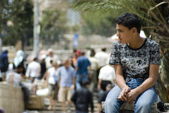 Young boy in Jerusalem Royalty Free Stock Image