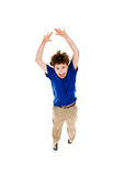 Young boy jumping Royalty Free Stock Image