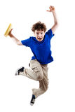 Young boy jumping Royalty Free Stock Photography