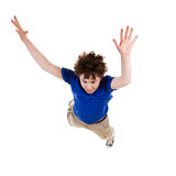 Young boy jumping. Boy jumping isolated on white background Stock Images