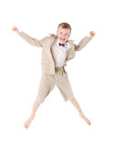 Young boy jumping Stock Photo