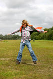 Young boy jumping for joy II Royalty Free Stock Image