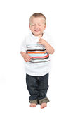 Young boy laughing Royalty Free Stock Photos