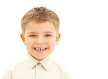 Young boy laughing Royalty Free Stock Images