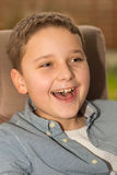 Young boy laughing Royalty Free Stock Photo