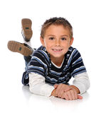 Young Boy Laying on Floor Royalty Free Stock Image