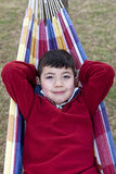 Boy on a hammock. Stock Images