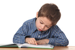 Young boy learning Stock Photos