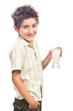Young boy with lemonade glass Royalty Free Stock Images