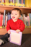 Young Boy in Library Stock Images
