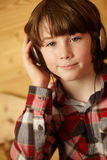 Young Boy Listening To MP3 Player Stock Photos