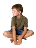 Young boy looking bored Royalty Free Stock Photography