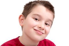 Young Boy looking at Camera Appreciatively Royalty Free Stock Image