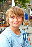 Young boy looking confident Royalty Free Stock Photography