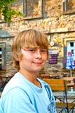 Young boy looking confident Stock Photos