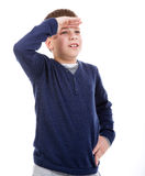 Young boy looking into the distance Stock Image