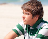 Young Boy Looking Into The Distant Royalty Free Stock Photography