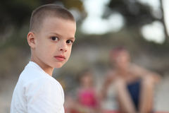 Young boy looking Stock Images