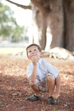 Young boy looking up Royalty Free Stock Photography