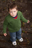 Young boy looking up Stock Photos