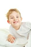 Young boy with a lost tooth Stock Photos