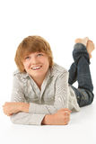 Young Boy Lying On Stomach Royalty Free Stock Images