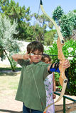 Young boy makes archery Royalty Free Stock Photos