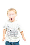 Young Boy Makes Shocked Expression Stock Photography