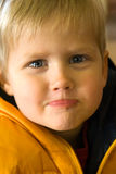 Young boy making a face Royalty Free Stock Photo