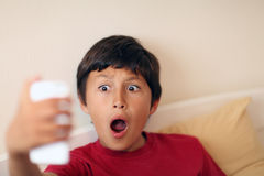 Young boy making selfie pictures Royalty Free Stock Photo