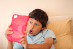 Young boy making selfie pictures Royalty Free Stock Photography