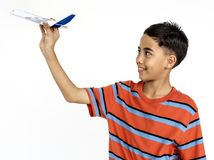 Young Boy Male Play Toy Concept. Royalty Free Stock Photo