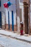 Young boy in Maras Peru Royalty Free Stock Photos