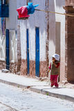 Young boy in Maras Peru Royalty Free Stock Images