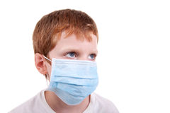 Young boy with a medical mask Royalty Free Stock Photos