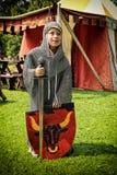 Young boy in medieval armour Stock Photos