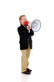 Young boy with megaphone Stock Image