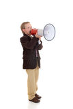 Young boy with megaphone Royalty Free Stock Photos