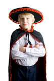 Young boy in mexican hat Stock Images