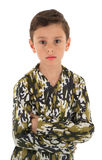 Young boy in military uniform Royalty Free Stock Image