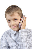 Young boy with mobile phone Stock Image