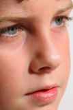 Young boy modeling headshot. Closeup Royalty Free Stock Photo