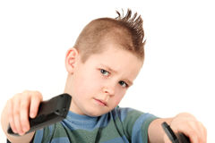 Young boy with mohawk Royalty Free Stock Photos