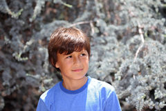 Young boy in nature series Royalty Free Stock Photo