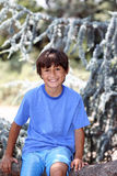 Young boy in nature series Stock Photos