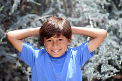 Young boy in nature series Stock Photo