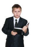 Young boy with a notebook Stock Photo